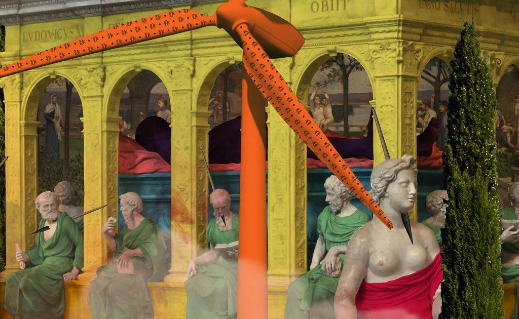 contemporary art print digital collage fulop gergo composition7 hungary budapest
