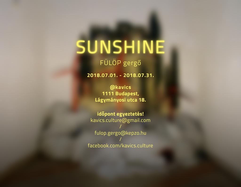 fulop gergo exhibition contemporary art sunshine budapest hungary installation 2018 invitation