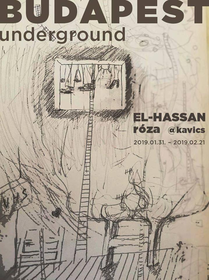 elhassan roza budapest underground exhibition kavics contemporary art artist independent hungary invitation show
