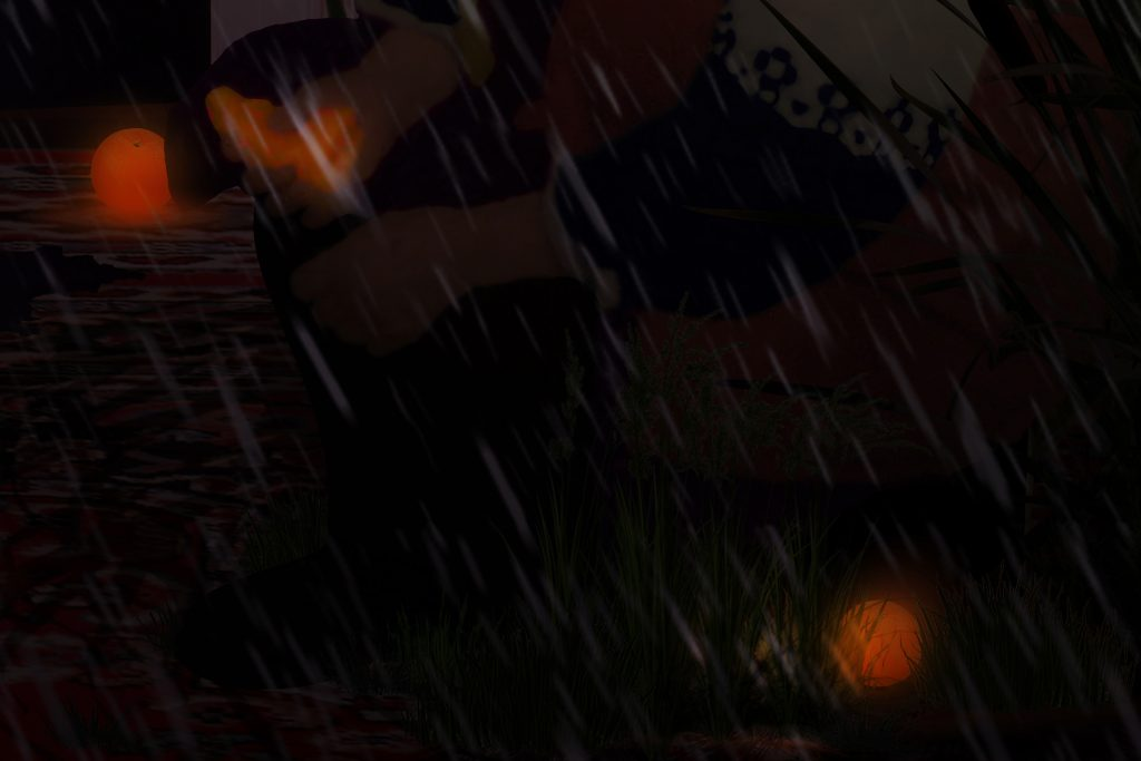 rainfall with glowing orange and max payne gergo fulop contemporary art independent underground budapest hungary